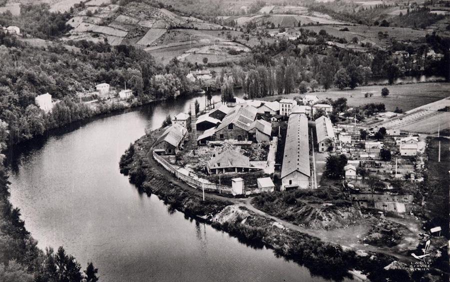 Verrerie de Penchot demantellement apres 1954