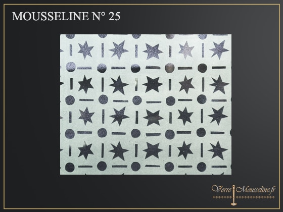 Vitrage à décor étoilé N-25