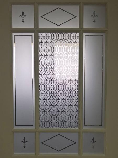 Porte et verre mousseline clair