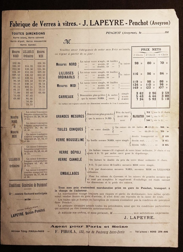tarif original J Lapeyre