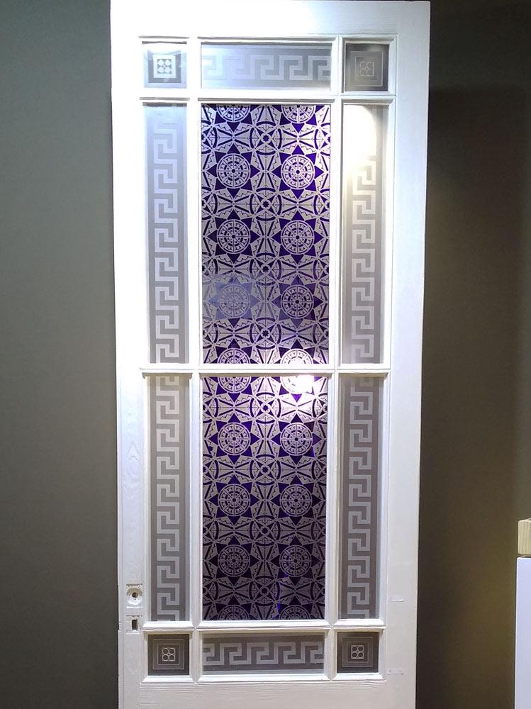 grande porte ancienne vitree