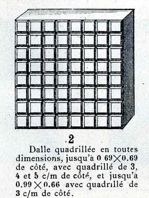 plaque de verre quadrille NON REPRODUISIBLE