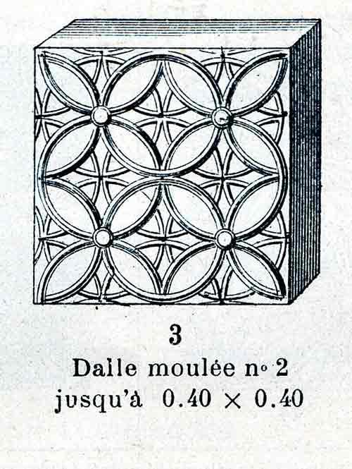 brique de verre moulee ancienne NON REPRODUISIBLE