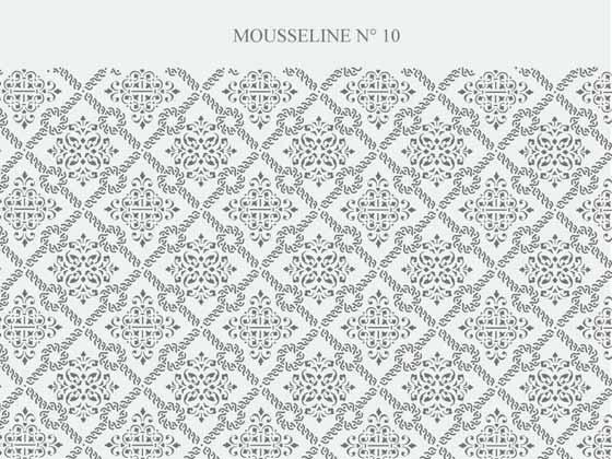 Vitrage mousseline gothique N-201