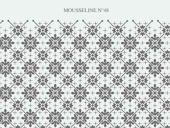 Motif vitre mousseline N-48