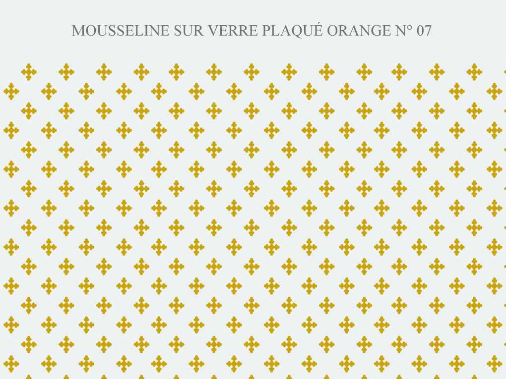motif grave sur verre orange