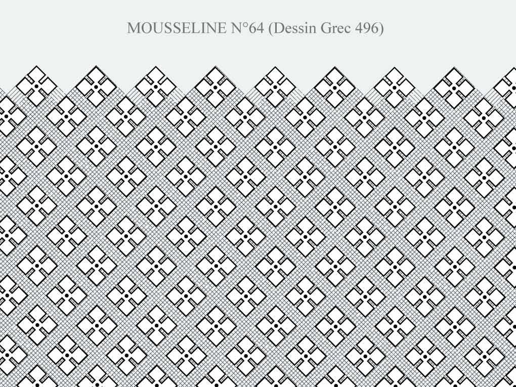 Motif Mousseline N-64