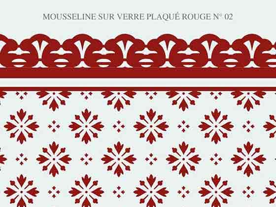 Mousseline verre couleur rouge N-02