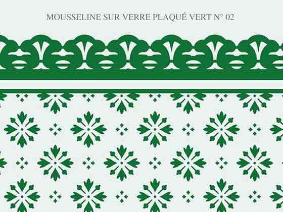 Mousseline verre couleur vert N-02