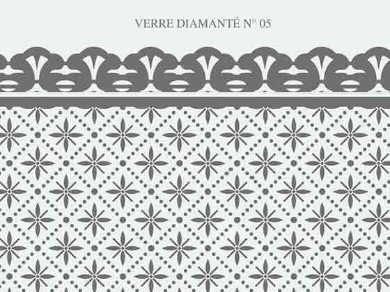 verre ancien diamante clair N-05