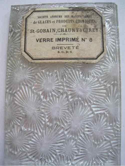 verre imprime petite marguerite NON REPRODUISIBLE