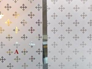 verre a vitre motif clair