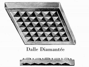 Verre de sol diamanté