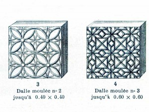 dalles de verres décoratives