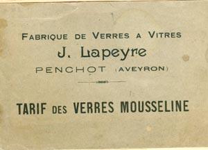 Catalogue de verre ancien Mousseline