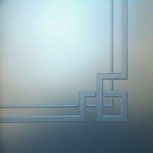 Gravure sur verre art-deco