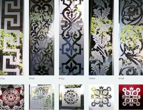 Modèles de verre mousseline angles et bordures