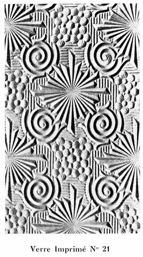 Vitrage imprime en relief de 1933