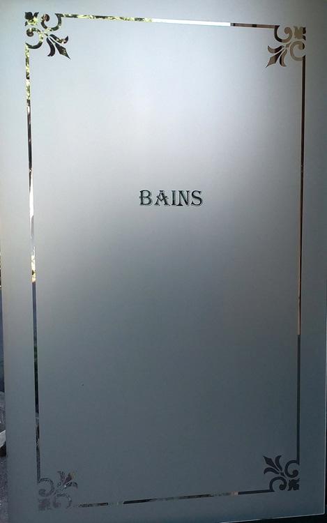 Verres dépolis rétros salle de bain