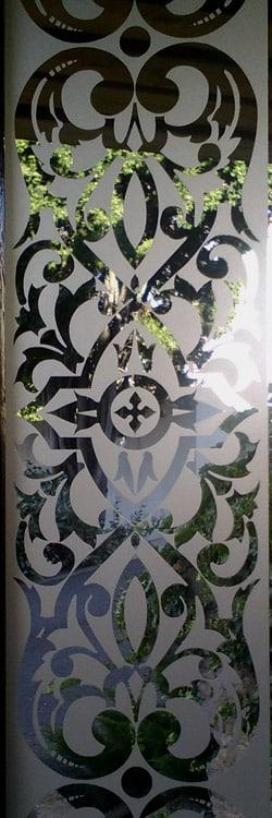 Bordure en verre sablé