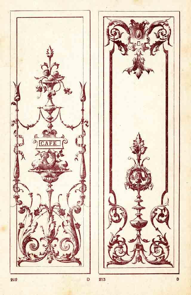 Modele de vitrine café et brasserie 1900