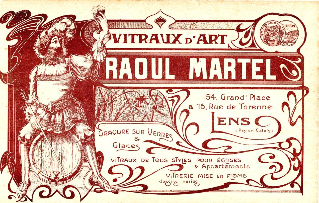 Graveur sur verre a lens Raoul Martel