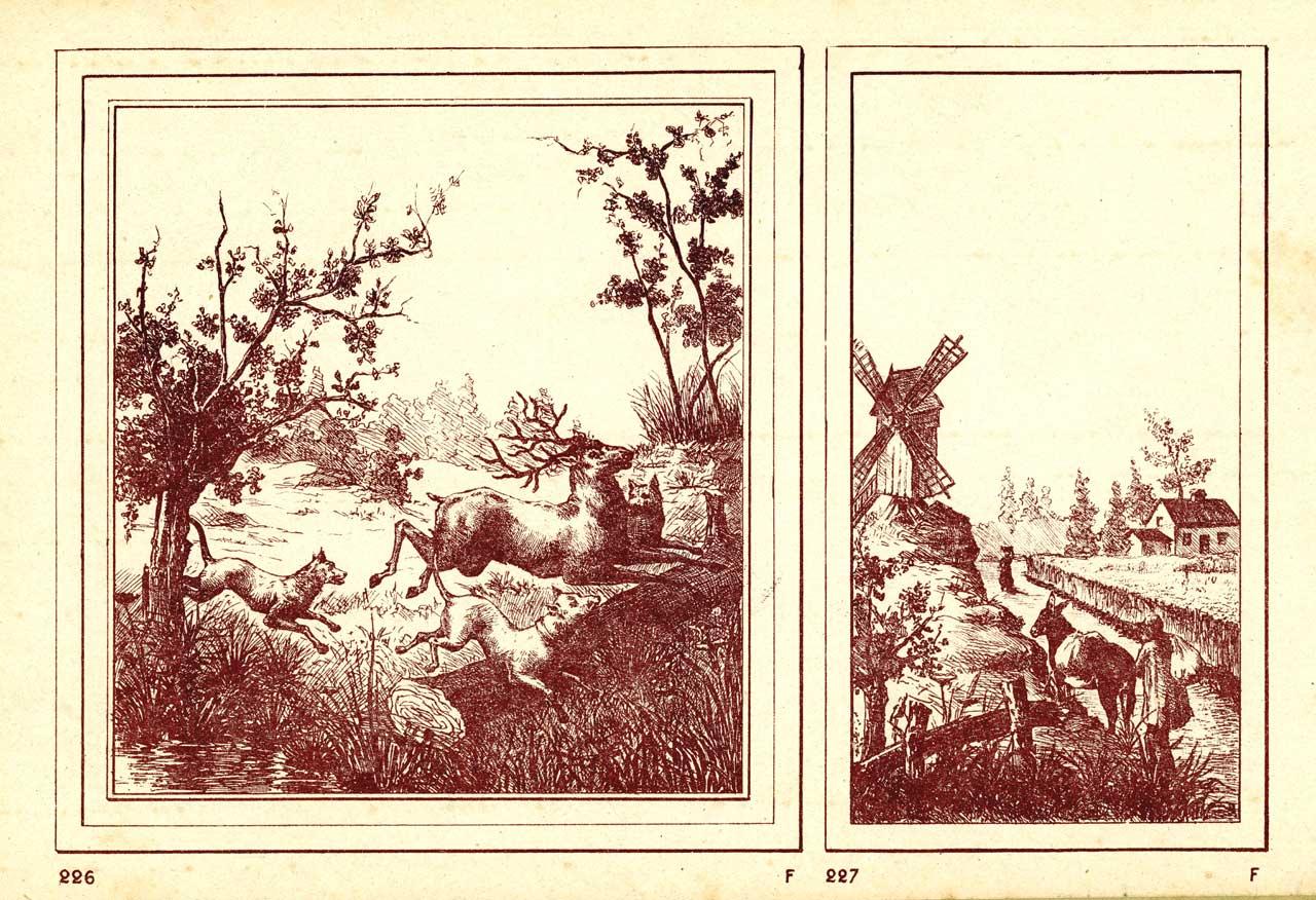 Modèle de scène de chasse 1900