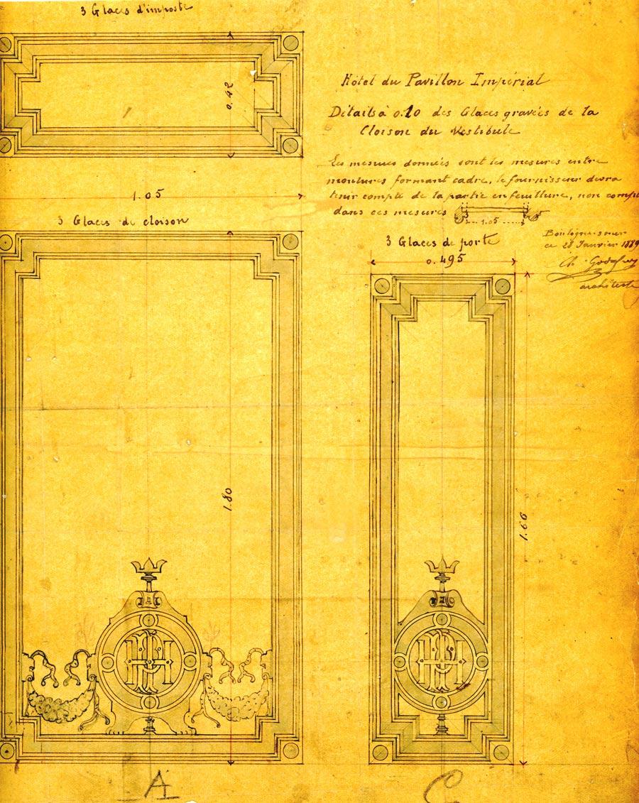 Vitrage hotel du Pavillon imperial Boulogne