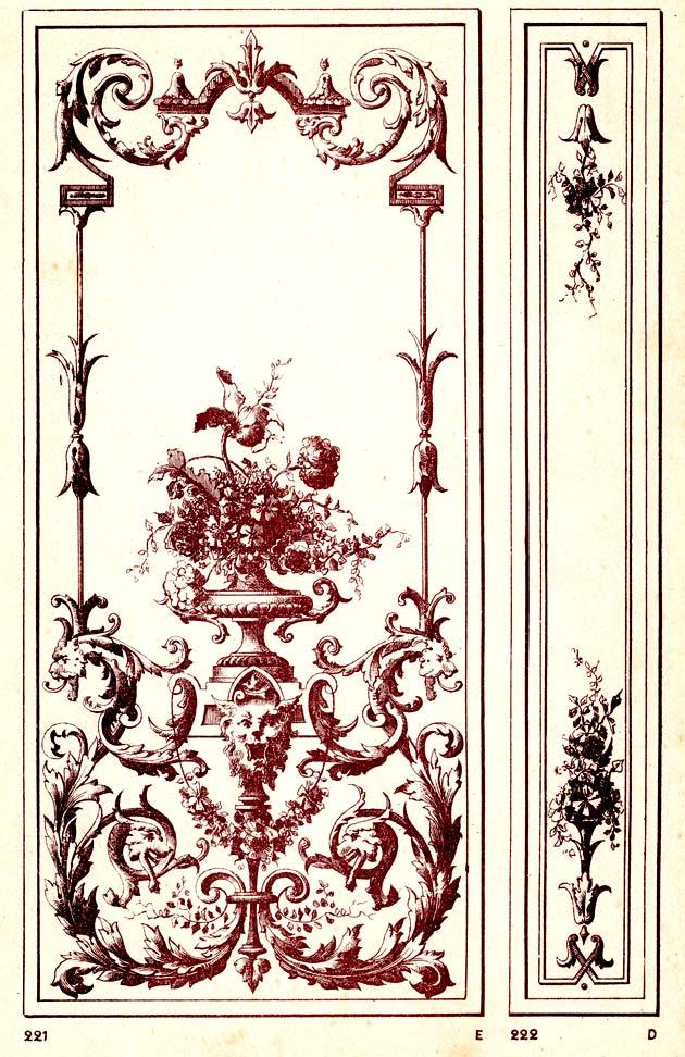 Modèle de vitrage gravé à l'acide vers 1900