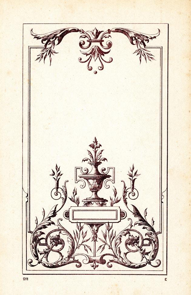 Modèle de vitrine gravée ancienne