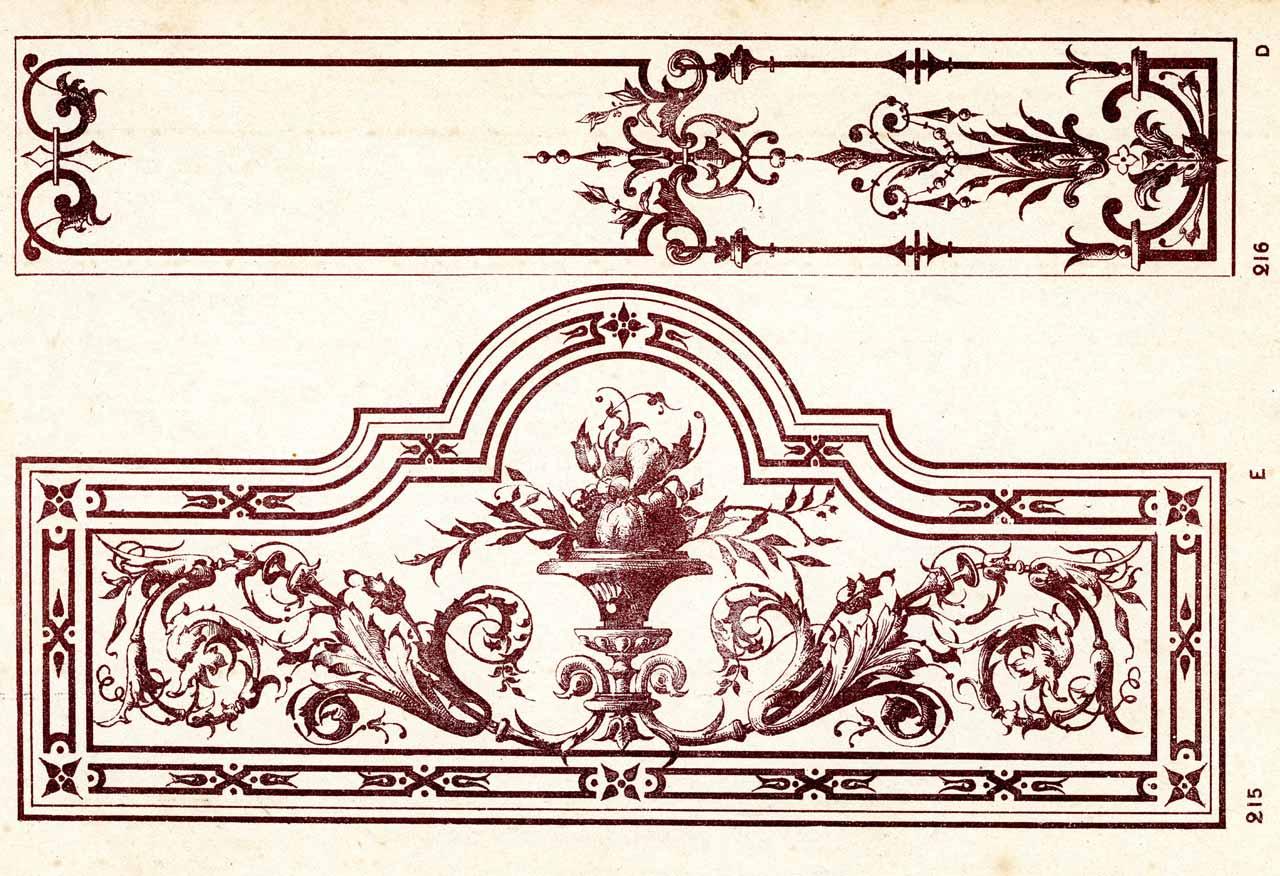Ancien panneau de verre gravé à l'acide