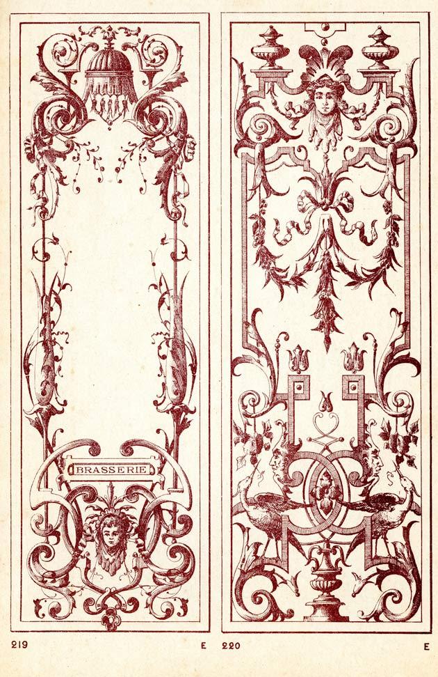 modèle de vitrine 1900