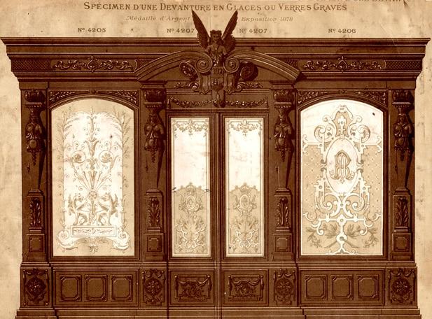 Ancienne vitrine de magasin