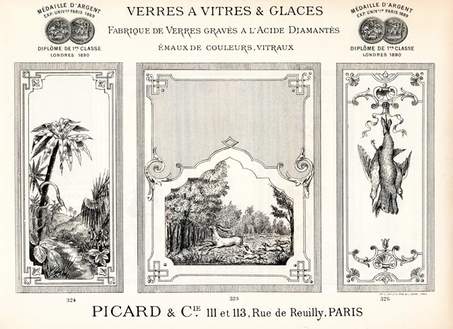 Modèle de paysage gravure sur verre