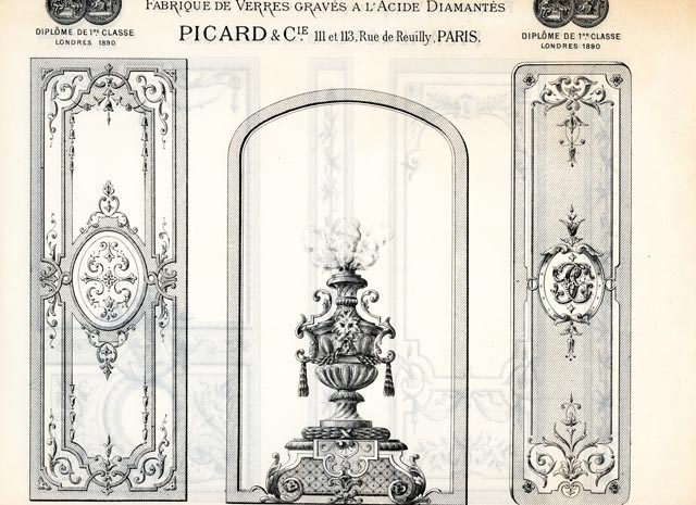 modèle de vitrage de 1900