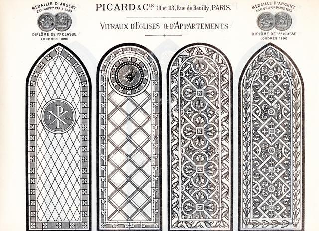 Modèles de vitraux ancien