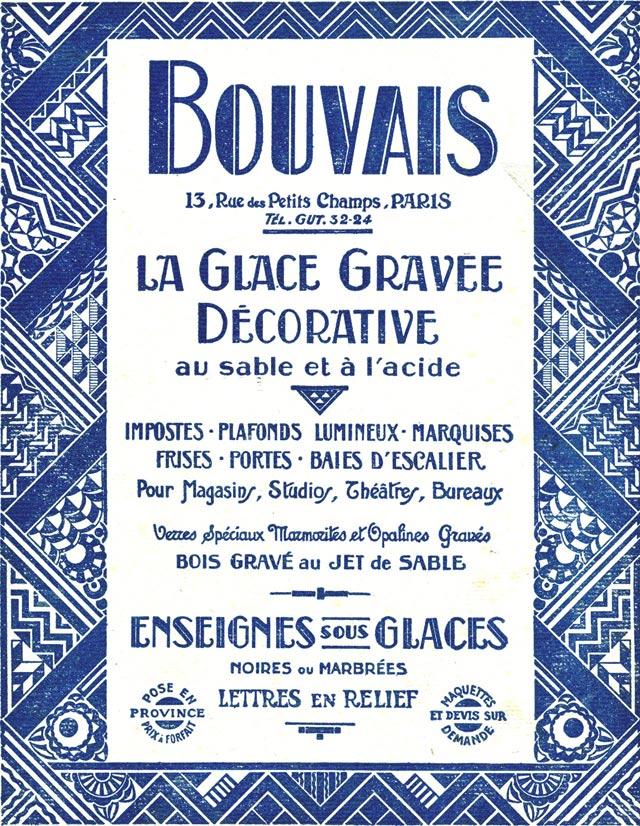 Enseigne Bouvais 1927