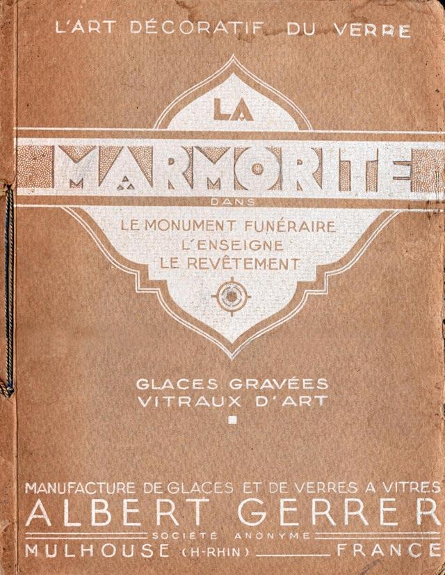 plaque marmotite A.Gerrer