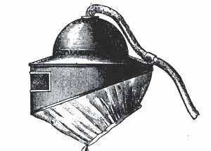 ancien casque pour le sablage