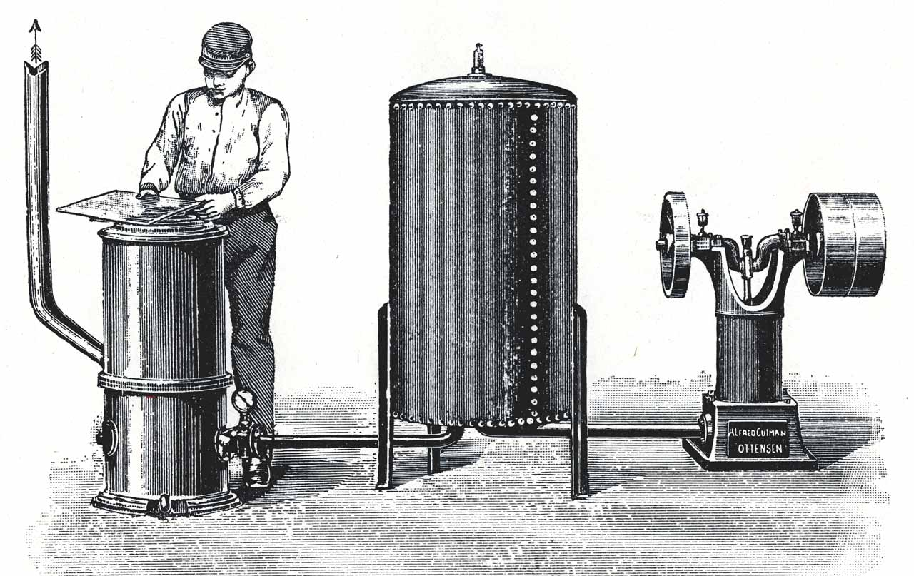 ancienne machine de gravure sur verre