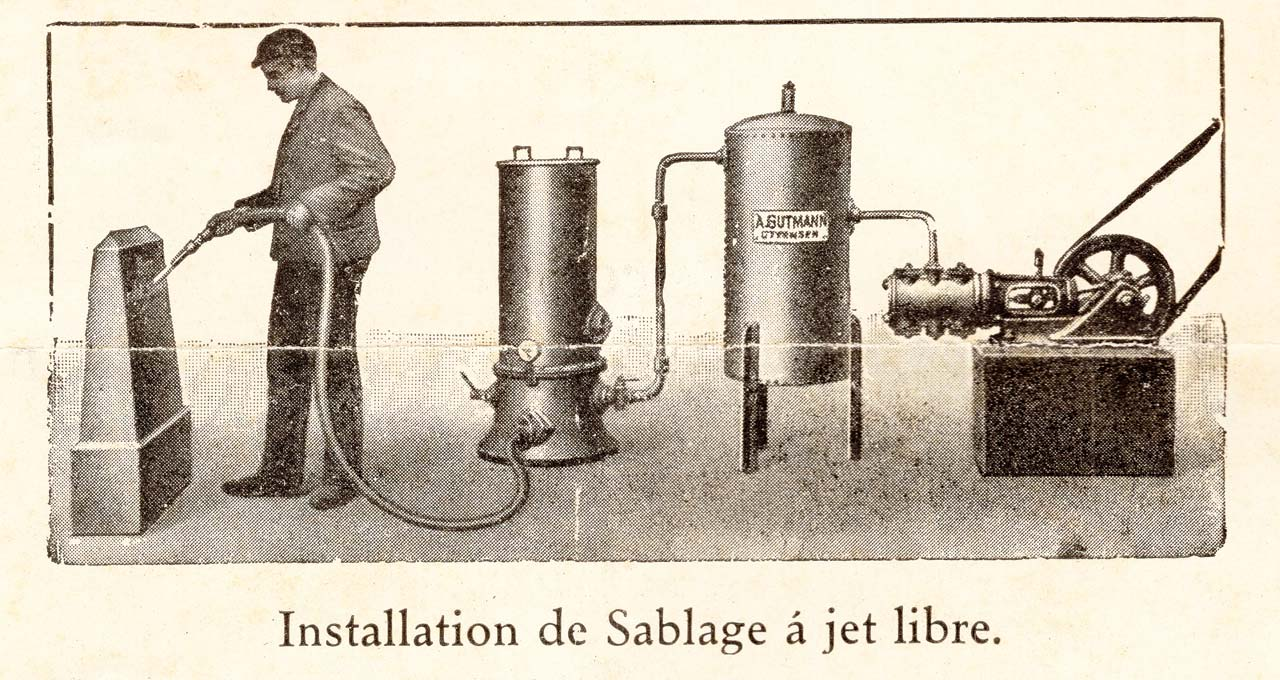 machine a jet de sable libre en 1910