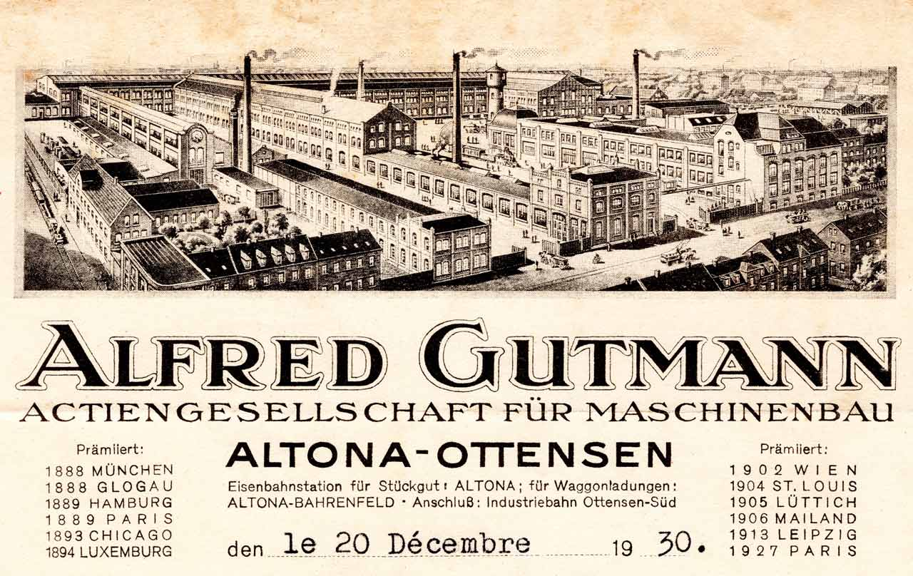 Entete lettre alfred Gutmann
