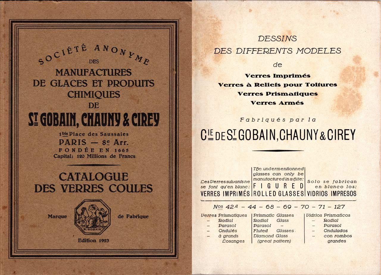 Catalogue 1923 Chauny et Cirey