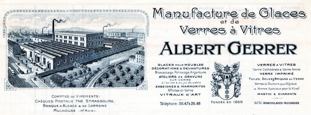 Manufacture de glaces et verres à vitres Albert Gerrer
