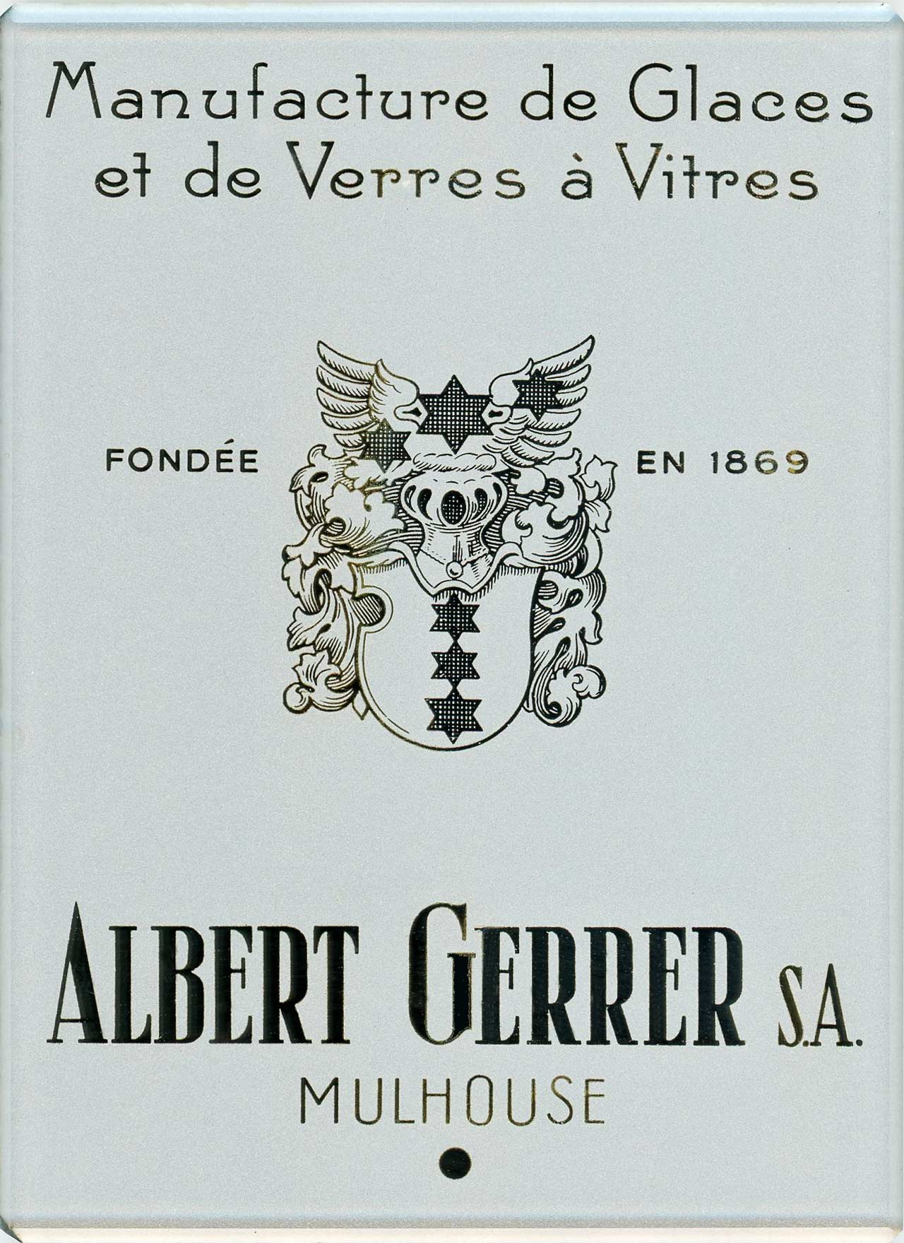 manufactures de verres a vitre Albert Gerrer