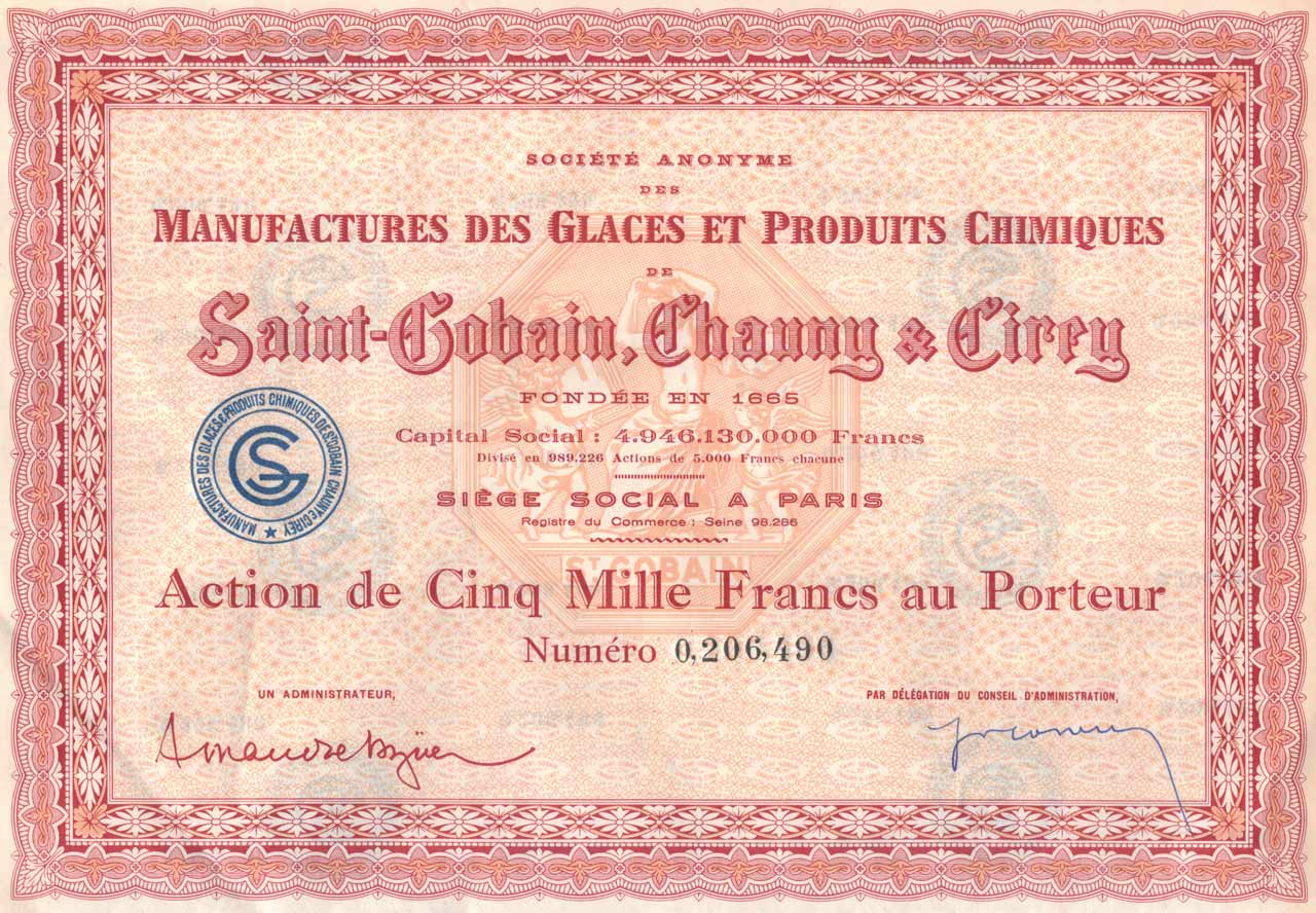 Manufactures des glaces et produits chimiques Saint-Gobain, Chauny & Cirey