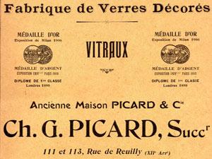 Vitrage picard 1903