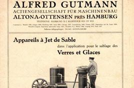 Machine de sablage du verre