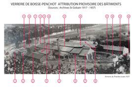 Batiments de la verrerie Boisse-penchot