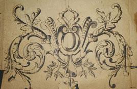 Gravure sur verre lilles 1895